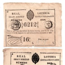 Lotería Nacional: LOTERÍA. REAL LOTERÍA. GRAN SORTEO EXTRAORDINARIO ISLA DE CUBA. 1 PESO. 4 AGOSTO 1841. Lote 106587583