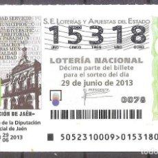 Lotería Nacional: LOTERIA NACIONAL,29/06/2013.. Lote 106945623