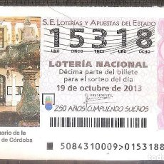 Lotería Nacional: LOTERIA NACIONAL,19/10/2013.. Lote 106947347