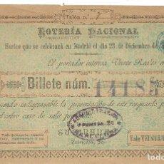 Lotteria Nationale Spagnola: (PA-171201)LOTERIA NACIONAL MADRID SORTEO 23 DICIEMBRE 1890. Lote 107024715