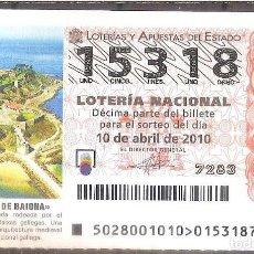 Lotería Nacional: LOTERIA NACIONAL,10/02/2010.. Lote 107047999