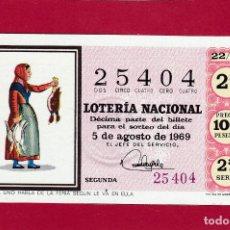 Lotería Nacional: LOTERIA NACIONAL SORTEO 22 DE 1969. Lote 107095791