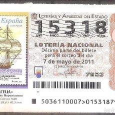 Lotería Nacional: LOTERIA NACIONAL,07/05/2011.. Lote 107148919