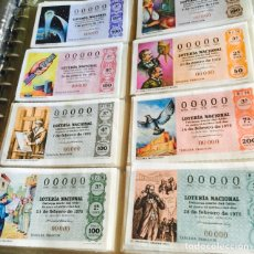 Lotería Nacional: LOTE DE 460 DECIMOS DE LOTERÍA TODOS CON NUMERACIÓN 00000 TODOS DISTINTOS. Lote 107653304