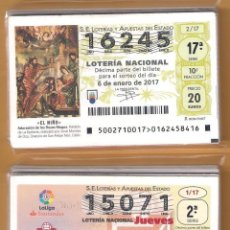 Lotería Nacional: 2 AÑOS COMPLETO 2017 LOTERIA NACIONAL DEL JUEVES Y SABADO, TODOS LOS DECIMOS DEL AÑO. Lote 118719950