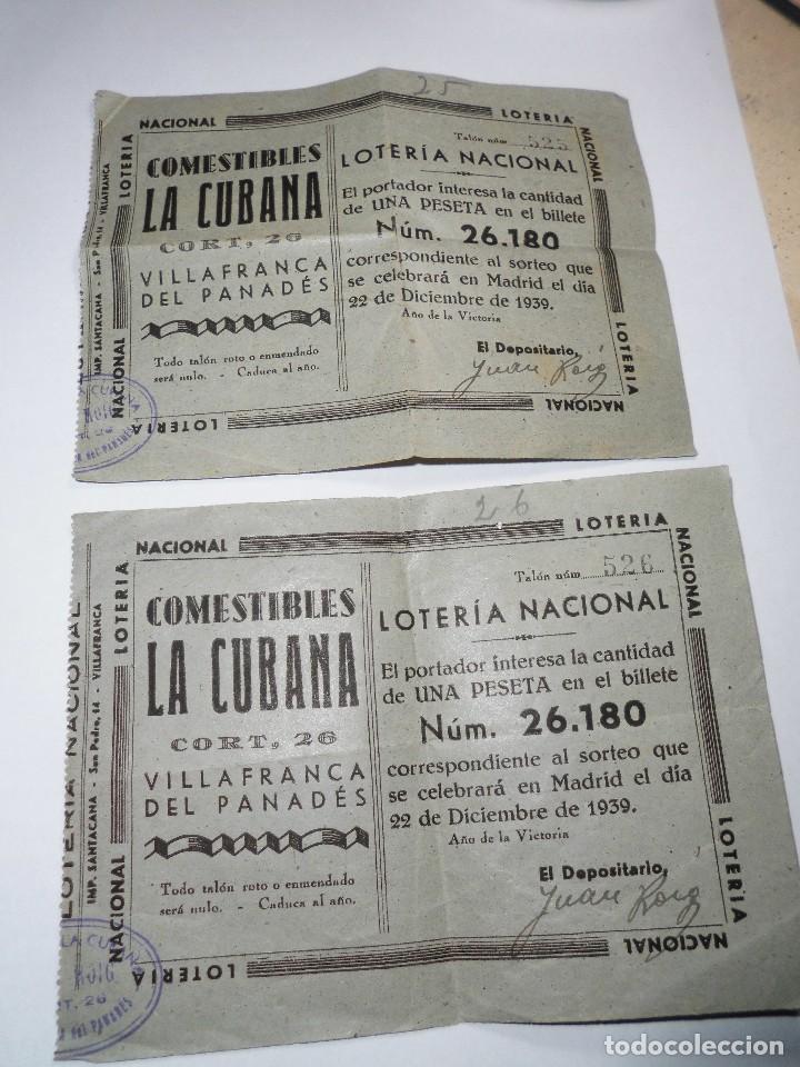 MAGNIFICOS DOS NUMEROS ANTIGUOS DE LOTERIA NACIONAL DEL 22 DE DICIEMBRE DEL 1939 (Coleccionismo - Lotería Nacional)