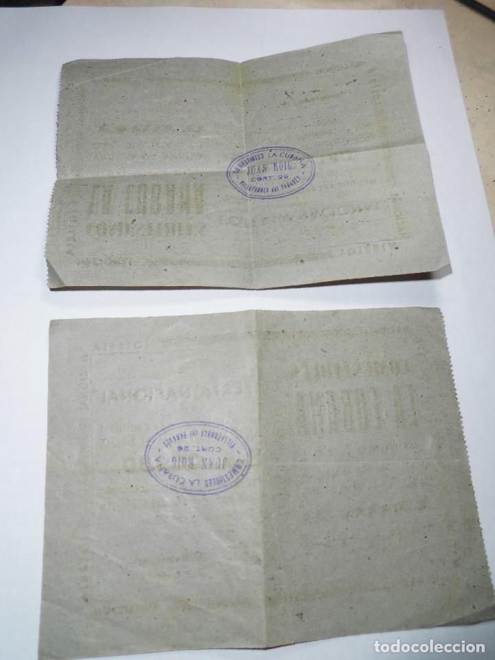 Lotería Nacional: magnificos dos numeros antiguos de loteria nacional del 22 de diciembre del 1939 - Foto 2 - 107908883