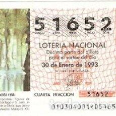 Lotería Nacional: DÉCIMO LOTERÍA. AÑO 1993. AÑO JACOBEO 1993. REF. 9-9310. Lote 108433167