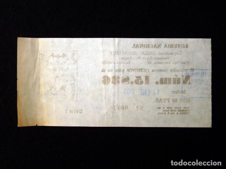 Lotería Nacional: FALLAS VALENCIA 1985. PARTICIPACIÓN 80 PTAS., LOTERIA NACIONAL Nº 15836 - Foto 2 - 108698575