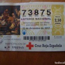 National Spanish Lottery - PARTICIPACION CRUZ ROJA ESPAÑOLA NAVIDAD 22 DICIEMBRE 2017 - 108919507