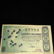Lotería Nacional: DÉCIMO LOTERIA NACIONAL 1964 SORTEO 3 ESPAÑA . Lote 109059807