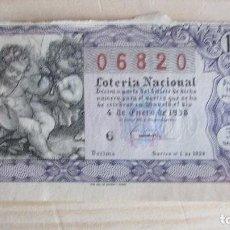 Lotería Nacional: 06820 LOTERÍA NACIONAL SORTEO Nº 1 DE 1958. 5ª SERIE, 10ª. Lote 109364611