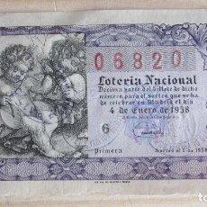 Lotería Nacional: 06820 LOTERÍA NACIONAL SORTEO Nº 1 DE 1958. 5ª SERIE, 1ª. Lote 109364643