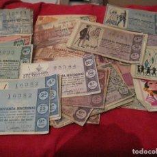 Lotería Nacional: DECIMOS DE LOTERIA NACIONAL 1965/66 LOTE. Lote 109541339