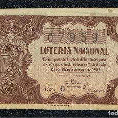 Lotería Nacional: DECIMO LOTERIA NACIONAL AÑO 1957 SORTEO 32. Lote 110052879