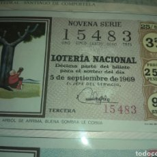 Lotería Nacional: LOTERIA NACIONAL 5 DE SEPTIEMBRE DE 1969.. Lote 110072096