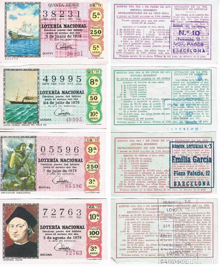 4 FOTOGRAFIAS DE DECIMOS DE LOTERIA (Coleccionismo - Lotería Nacional)