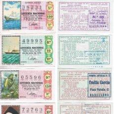 Lotería Nacional: 4 FOTOGRAFIAS DE DECIMOS DE LOTERIA. Lote 110229491