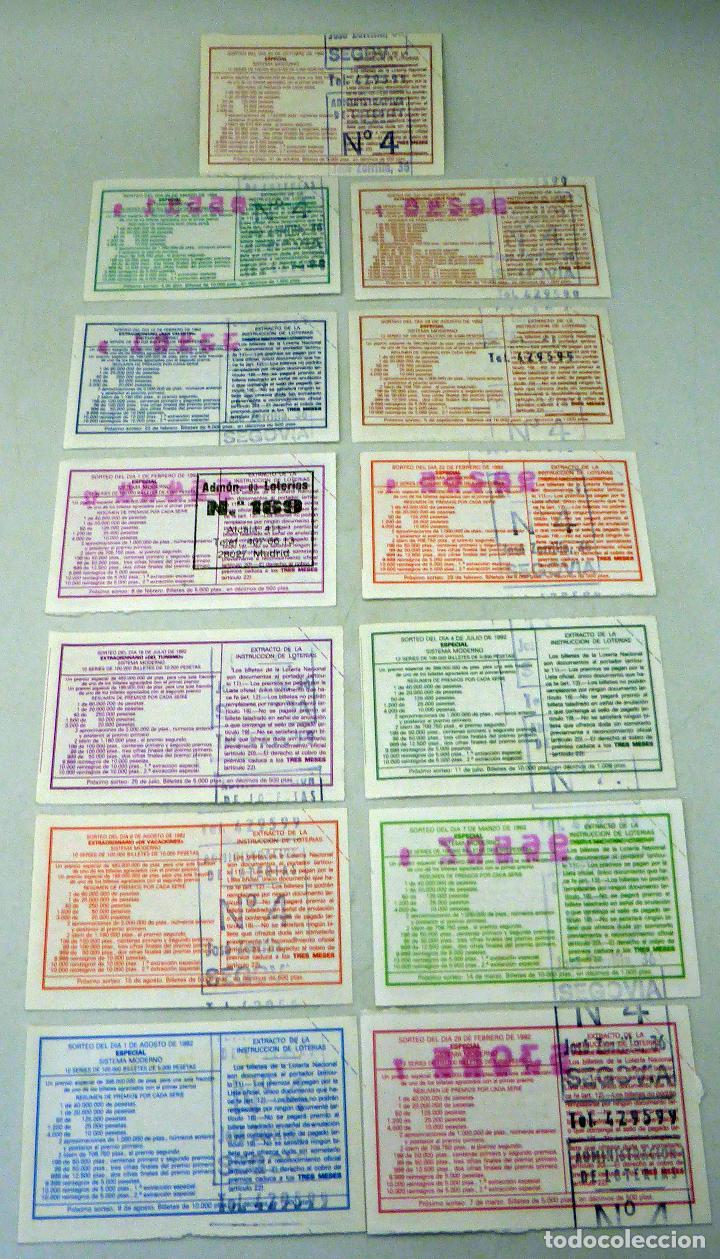 Lotería Nacional: 13 décimos Lotería Nacional Serie Arquitectura Española 1992 - Foto 2 - 111573751