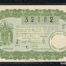 Lotería Nacional: DECIMO LOTERIA NACIONAL AÑO 1942 SORTEO 23. Lote 111598723