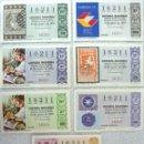 Lotería Nacional: LOTERIA NACIONAL ***Nº 16211*** (7 BILLETES) VARIOS SORTEOS Y SERIES - TEMA FILATELIA. Lote 112035591