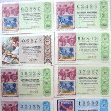 Lotería Nacional: LOTERIA NACIONAL , NOS.02483, 05880, 06815, 06977 07967, 09228, 19890, 23155, 55496, 62441(VER FOTOS. Lote 112040671