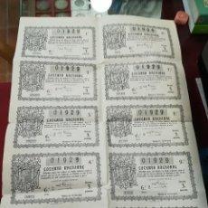 Lotería Nacional: CR PLIEGO LOTERIA NACIONAL AÑO 1946. Lote 112212519