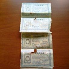 Lotería Nacional: 5 BILLETES LOTERIA NACIONAL 21 MAYO 1935 - UNO EN BUEN ESTADO - 4 CON ROTURAS - VER FOTOS. Lote 112284939