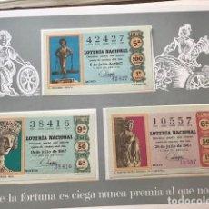 Lotería Nacional: ÁLBUM CON TODOS LOS DÉCIMOS DE 1967, 1968, 1969 Y 1970. Lote 112633503