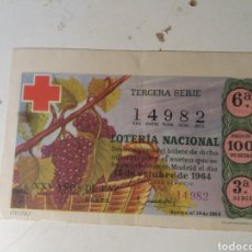 Lotería Nacional: LOTERÍA NACIONAL 1964. Lote 203154530