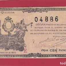 Lotería Nacional: LOTERIA NACIONAL SORTEO 34 DE 1903 NAVIDAD. Lote 112746735