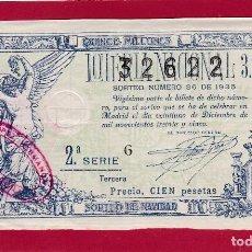 Lotería Nacional: LOTERIA NACIONAL SORTEO 36 DE 1935 NAVIDAD. Lote 112747203