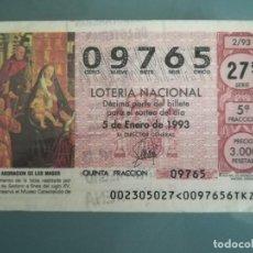 Lotería Nacional: LOTERIA NACIONAL AÑO COMPLETO SABADOS 1993. Lote 112811475