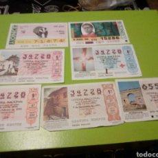 Lotería Nacional: LOTE 2 CUPONES ONCE AÑOS 1988 Y 98 , LOTERIA NACIONAL 1990 , 1991 Y 1995. Lote 113431434