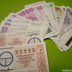 Lotería Nacional: LOTE 51 CUPONES LOTERIA NACIONAL 1986 ALGUNO PUEDE ESTAR DETERIORADO. Lote 113433442