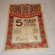 Lotería Nacional: CARTEL LOTERIA NACIONAL 1959. Lote 113935251