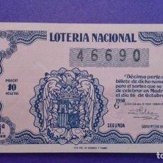 Lotería Nacional: DECIMO DE 1950 SORTEO 29. Lote 114272843