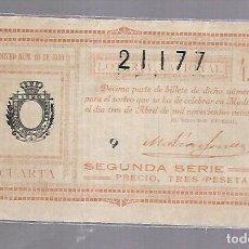 Lotería Nacional: LOTERIA NACIONAL. SORTEO Nº 10 DE 1920. MADRID. PERFECTO ESTADO. VER.. Lote 114346791