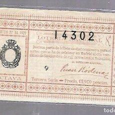 Lotería Nacional: LOTERIA NACIONAL. SORTEO Nº 27 DE 1922. MADRID. PERFECTO ESTADO. VER.. Lote 114346975