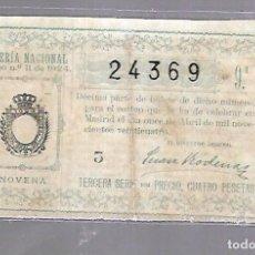 Lotería Nacional: LOTERIA NACIONAL. SORTEO Nº 11 DE 1924. MADRID. PERFECTO ESTADO. VER.. Lote 114346999