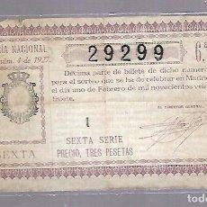 Lotería Nacional: LOTERIA NACIONAL. SORTEO Nº 4 DE 1927. MADRID. PERFECTO ESTADO. VER.. Lote 114347739