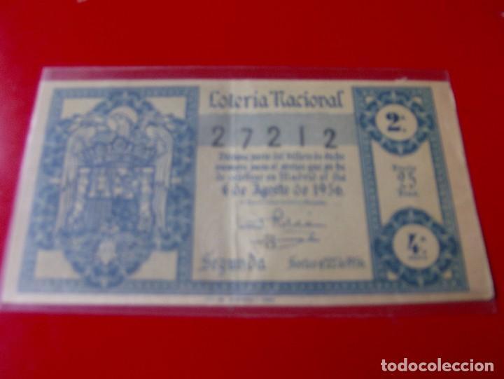 LOTERIA NACIONAL SORTEO Nº 22 DE 1956 (Coleccionismo - Lotería Nacional)