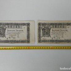 Lotería Nacional: LOTE DE 2 BILLETES DE LOTERÍA NACIONAL 1945 SORTEO Nº15. Lote 114735171