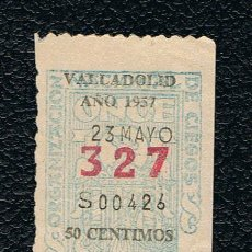 Lotería Nacional: LOTERIA ONCE CUPON AÑO 1957 DELEGACION VALLADOLID. Lote 116242555