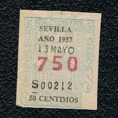 Lotería Nacional: LOTERIA ONCE CUPON AÑO 1957 DELEGACION SEVILLA. Lote 116242611