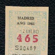 Lotería Nacional: LOTERIA ONCE CUPON AÑO 1961 DELEGACION MADRID. Lote 116243171