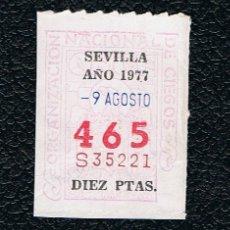 Lotería Nacional: LOTERIA ONCE CUPON AÑO 1977 DELEGACION SEVILLA. Lote 116243971