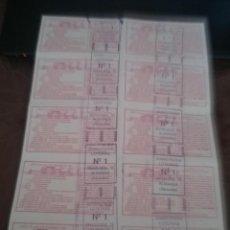 Lotería Nacional: SORTEO DEL 15 DE DICIEMBRE 1990 ALMANSA ALBACETE SERIE COMPLETA N-33325. Lote 116452199
