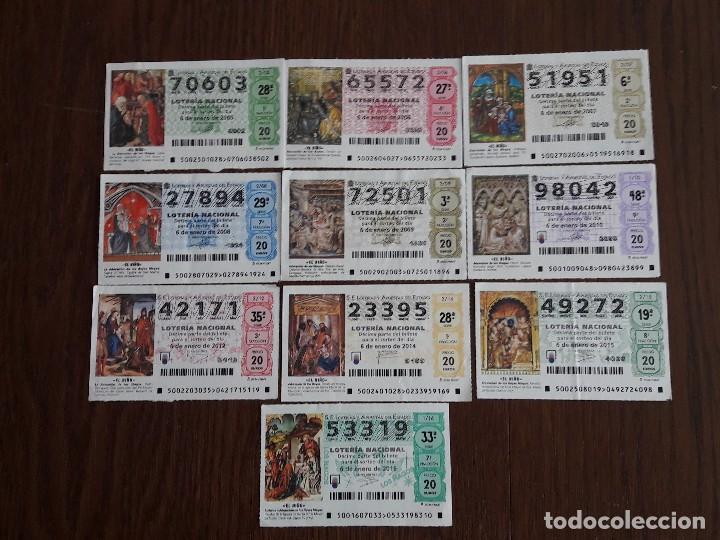 LOTE DE 10 DÉCIMOS DE LOTERÍA DEL NIÑO DE DIFERENTES AÑOS. (Coleccionismo - Lotería Nacional)
