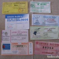 Lotería Nacional: LOTE 8 PARTICIPACIONES DE LOTERIA DE NAVIDAD. Lote 117216035